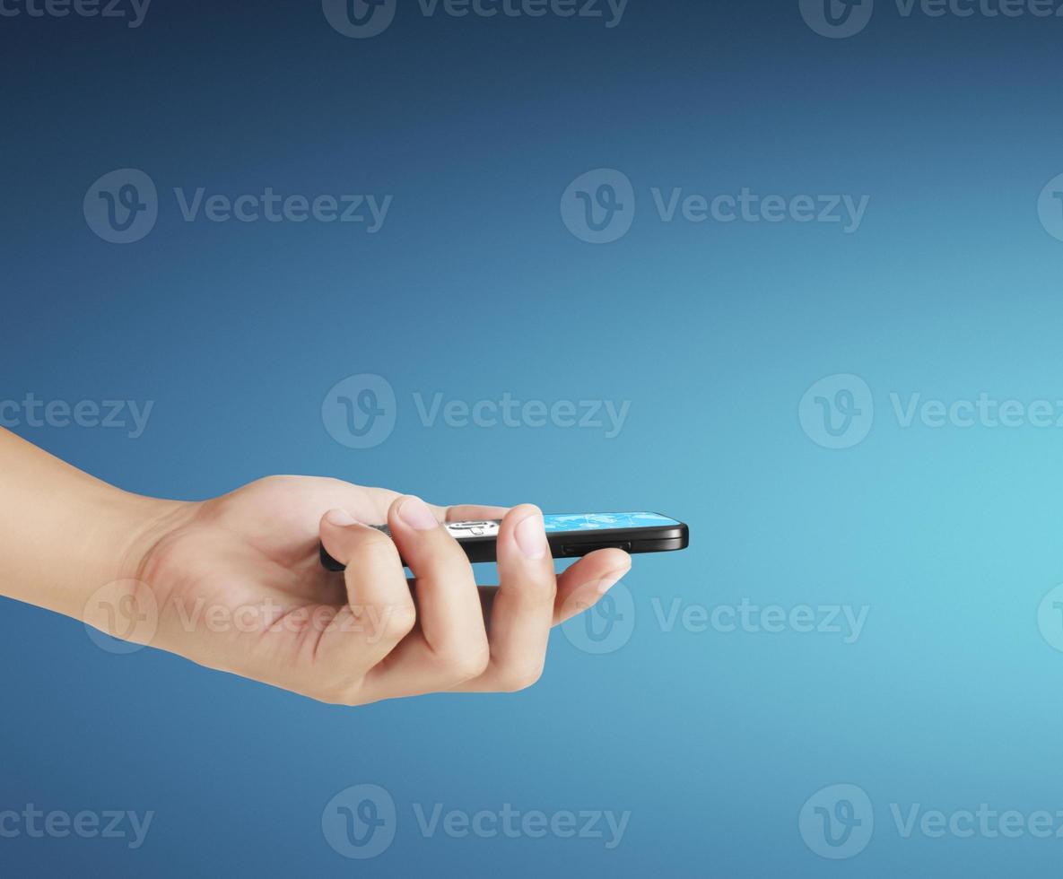 touchscreen mobiele telefoon foto