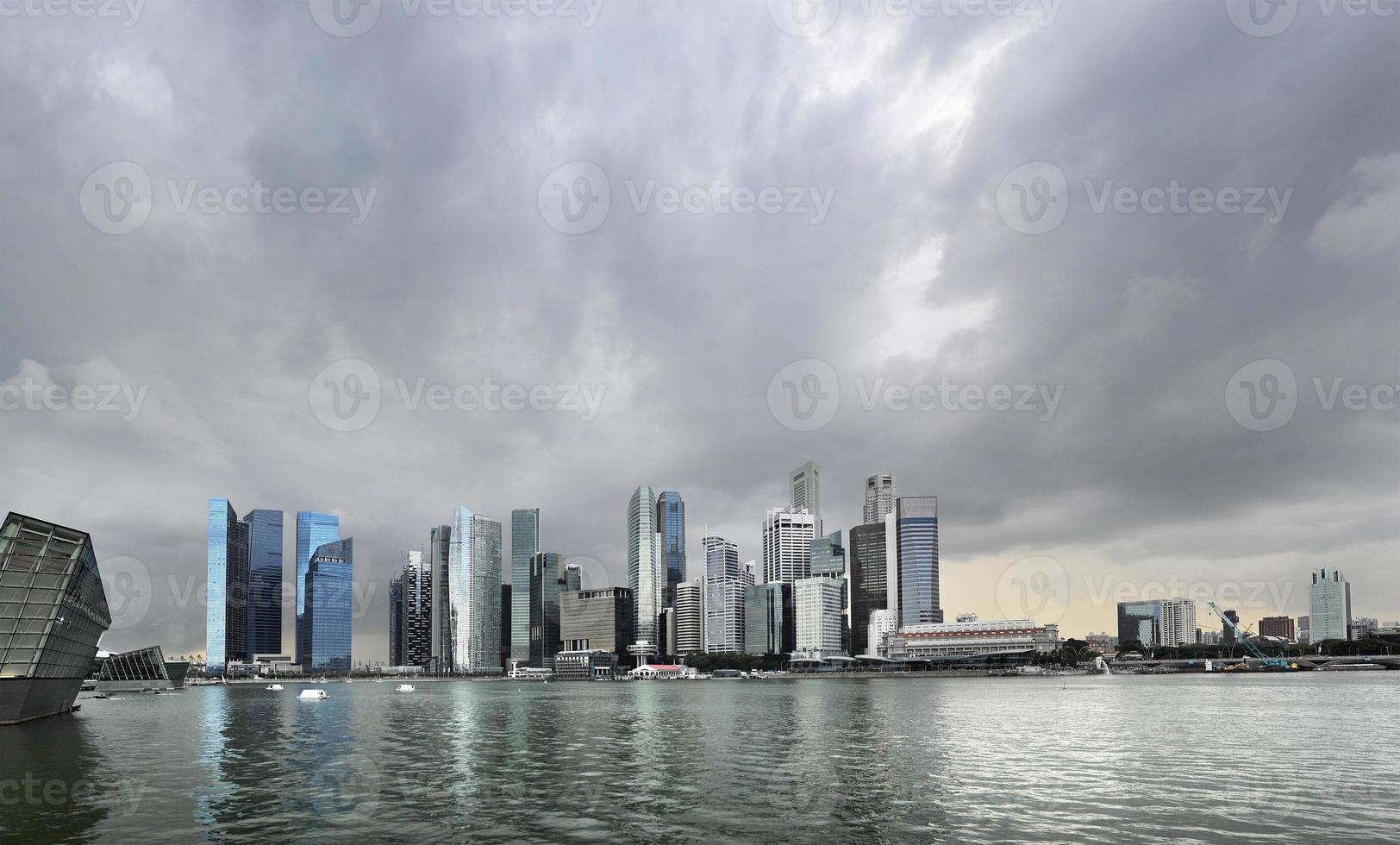 regenachtig singapore foto
