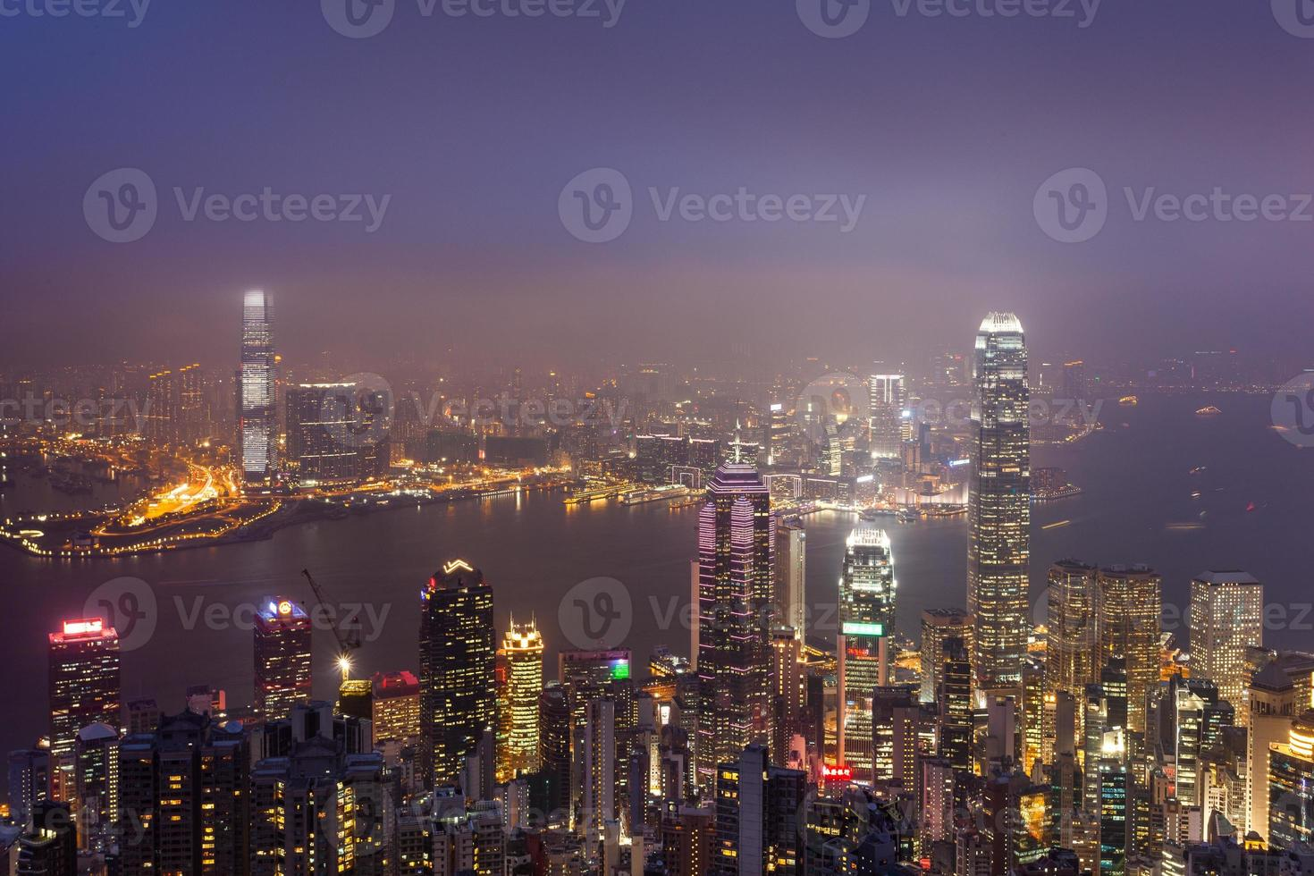 skyline van hong kong foto