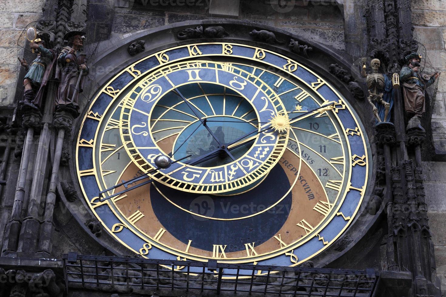 detail van astronomische klok foto