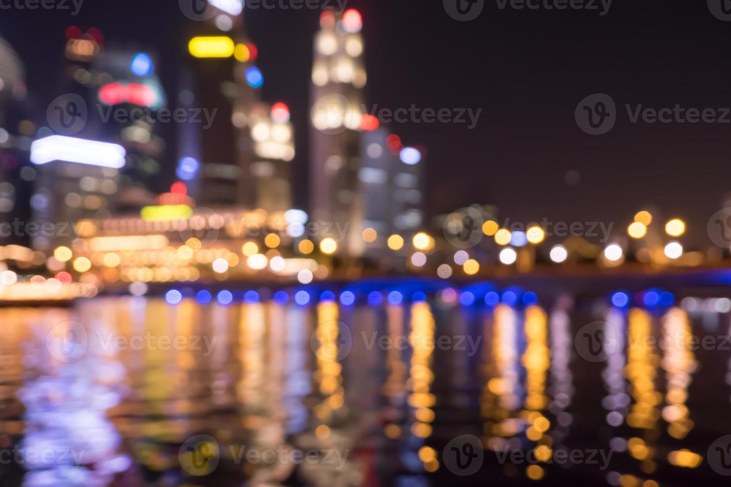 stad nachtverlichting wazig bokeh foto