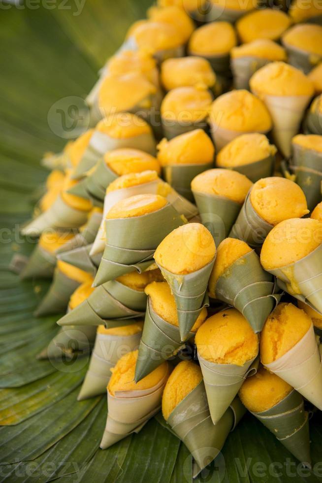grog palm cake in blad foto