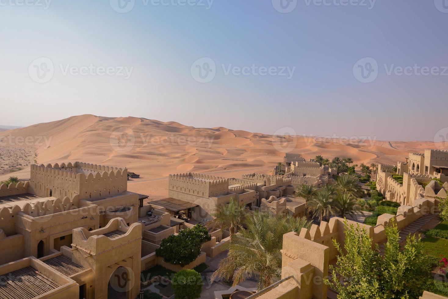 woestijn oase foto