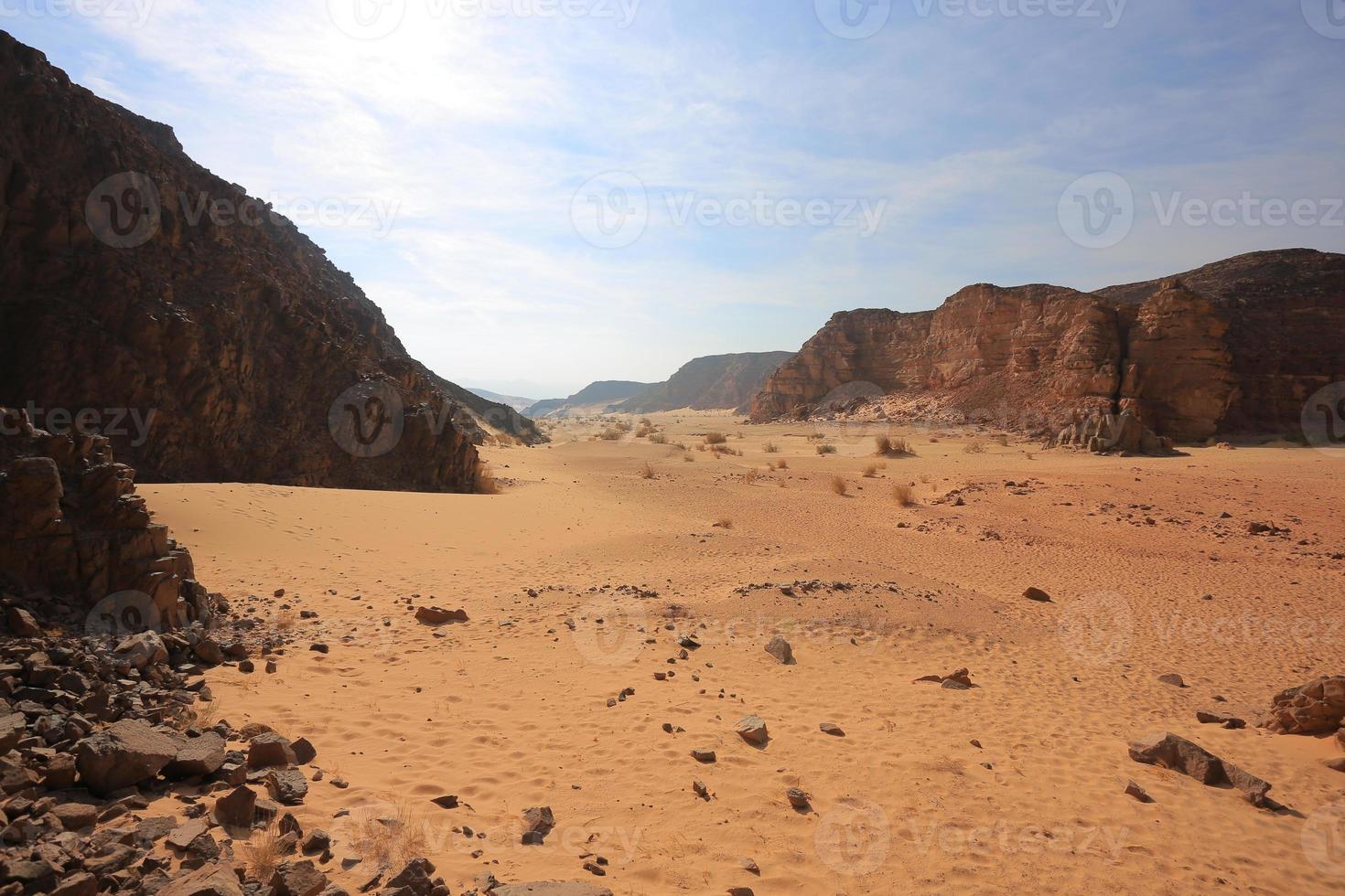 canyon in de woestijn foto