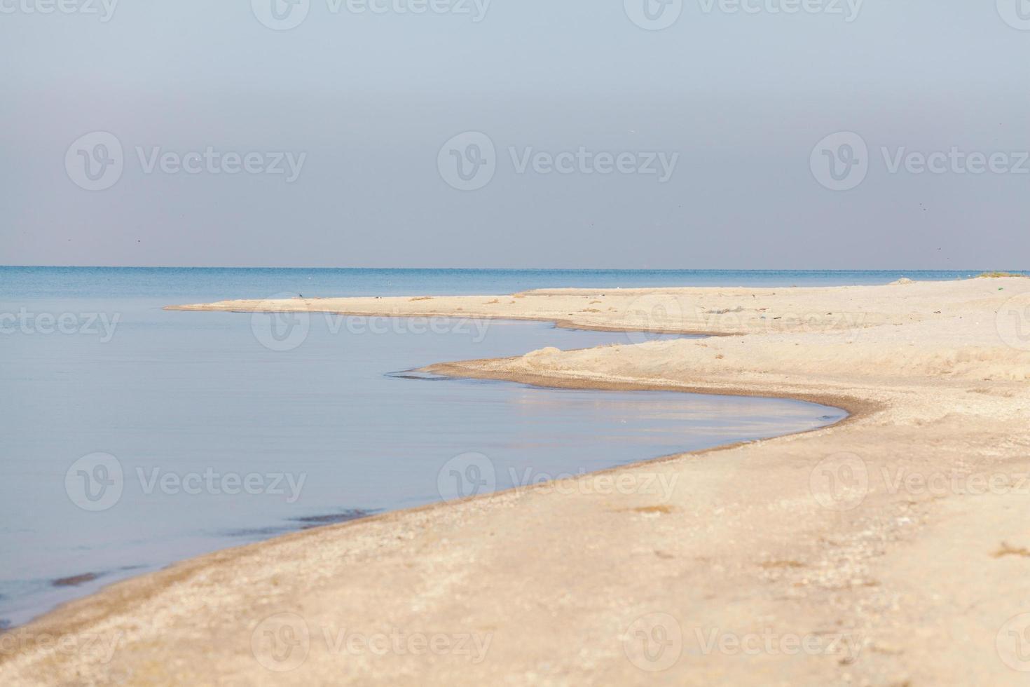 verlaten zeegezicht foto