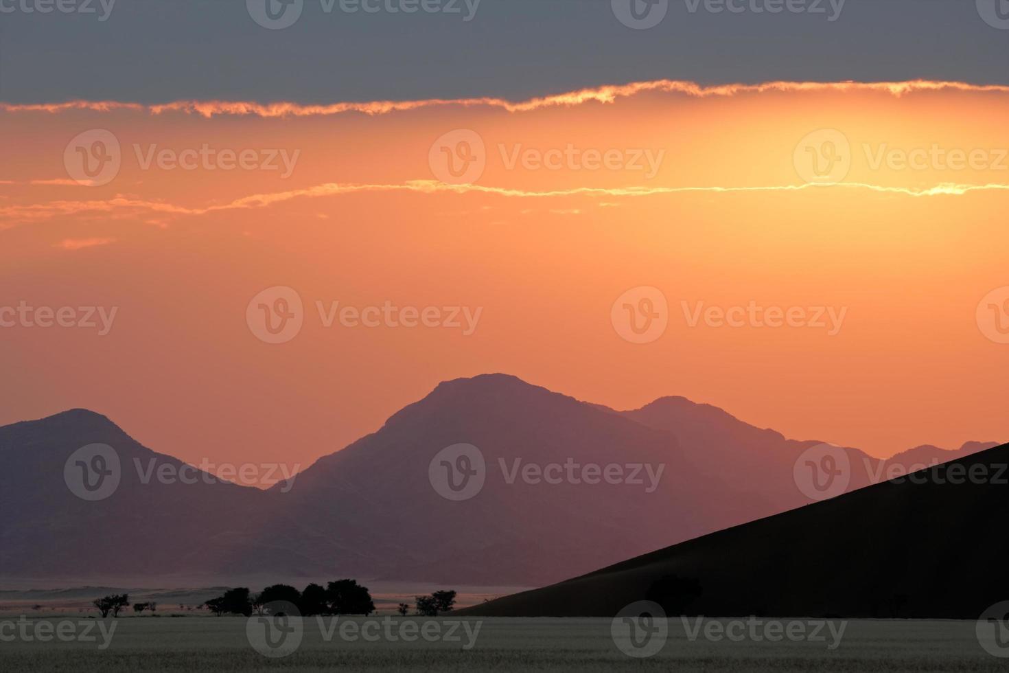 woestijn zonsopgang foto