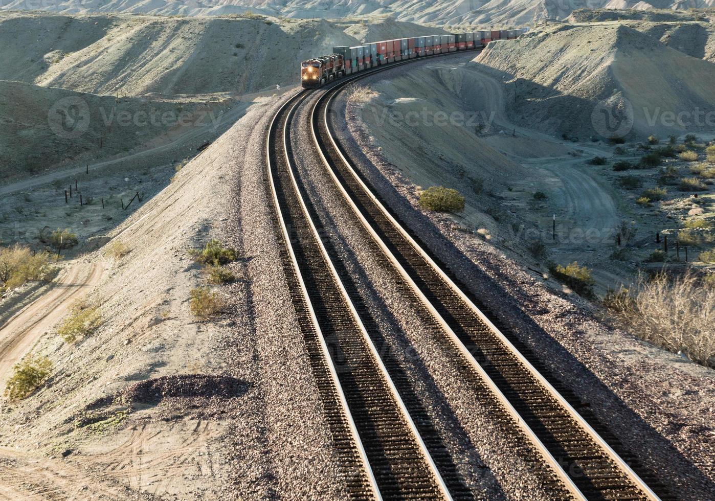woestijn trein foto