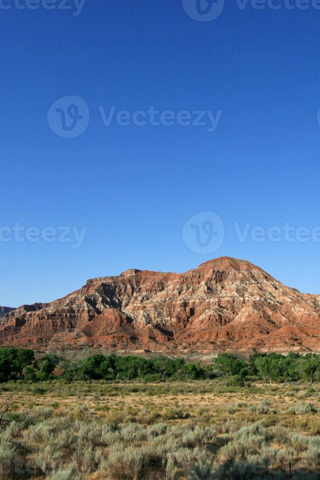 uitzicht op de woestijn foto
