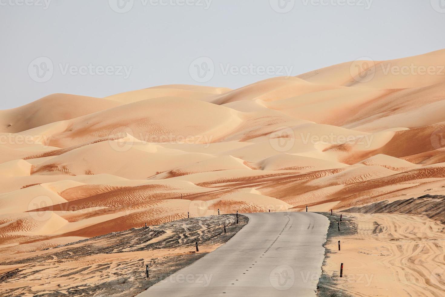 woestijn weg foto