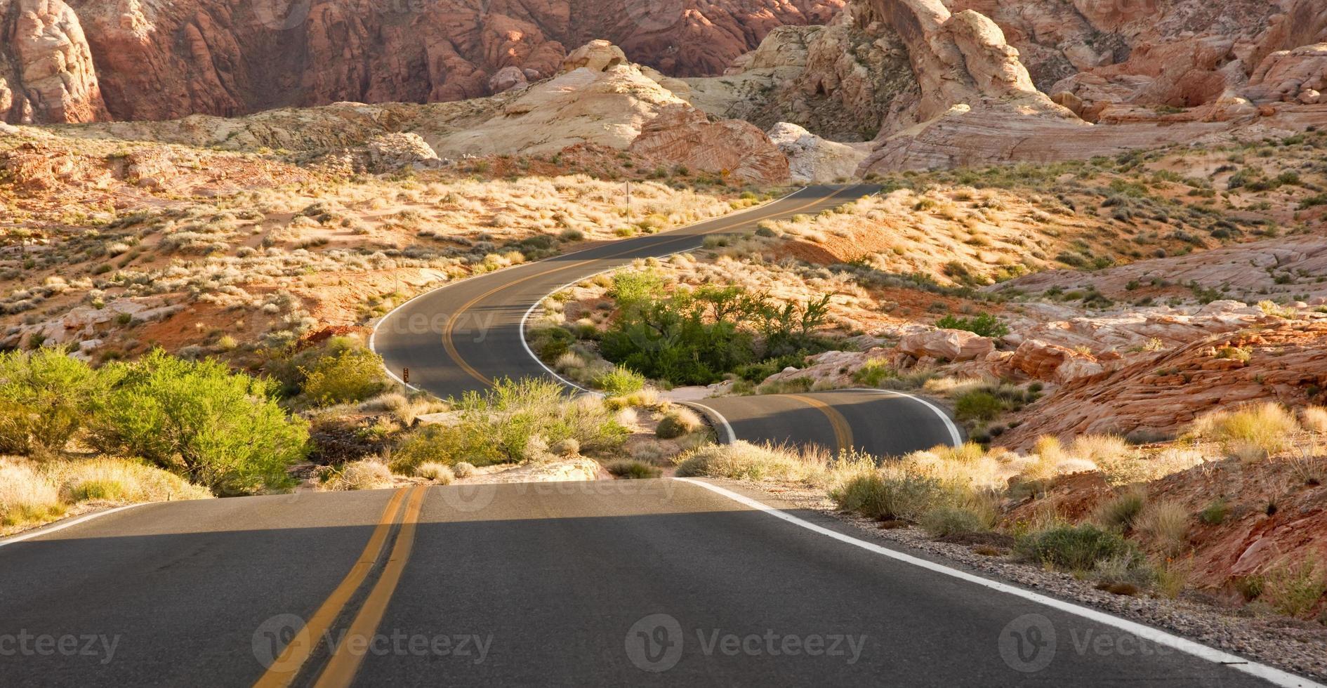 losgekoppelde woestijnweg foto