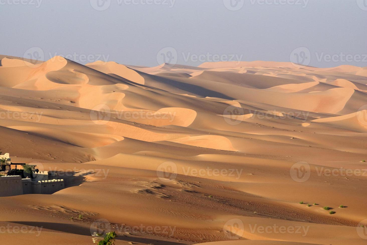 abu dhabi woestijn foto
