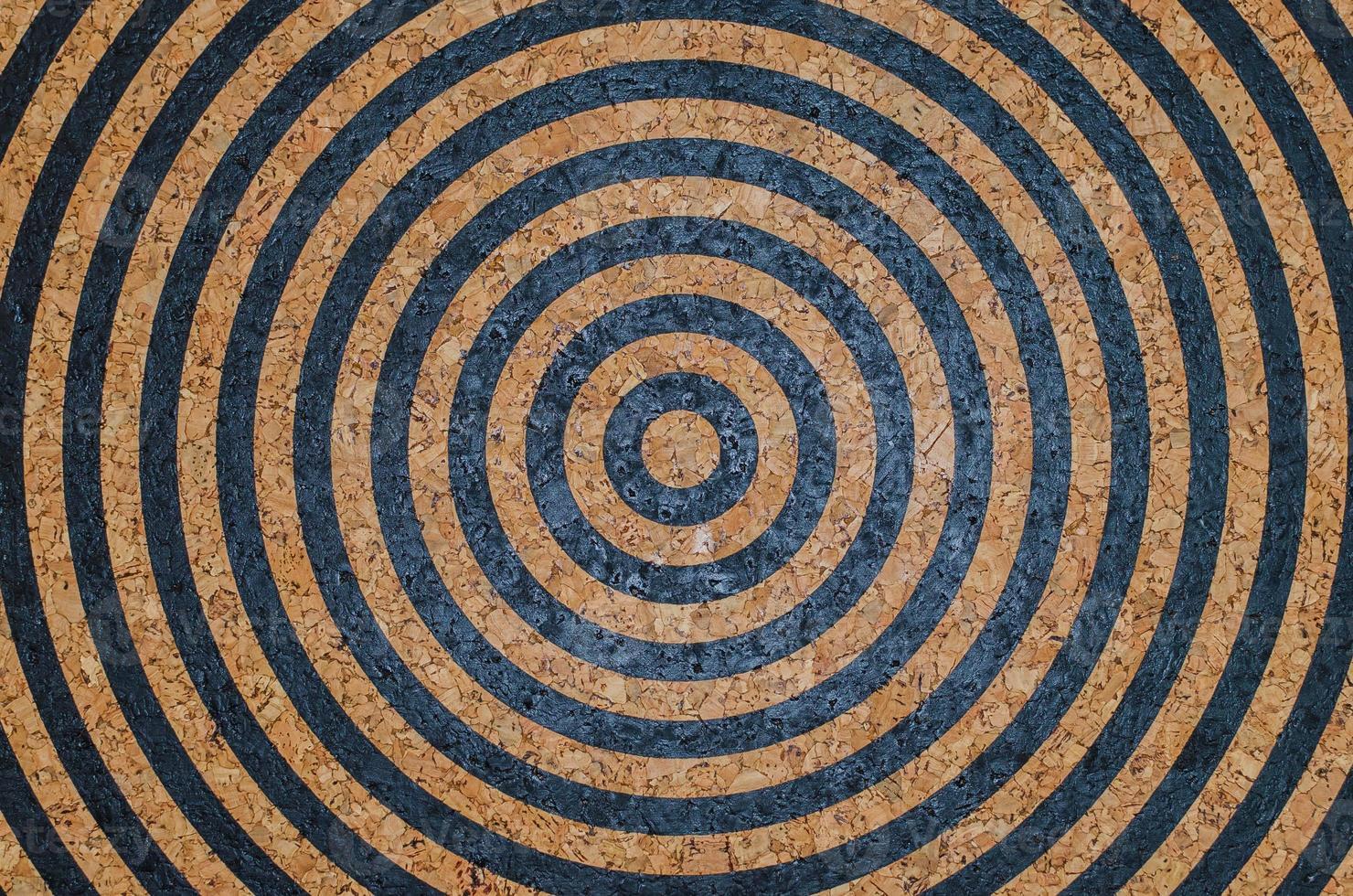 cirkel cork board verf doel als achtergrond foto