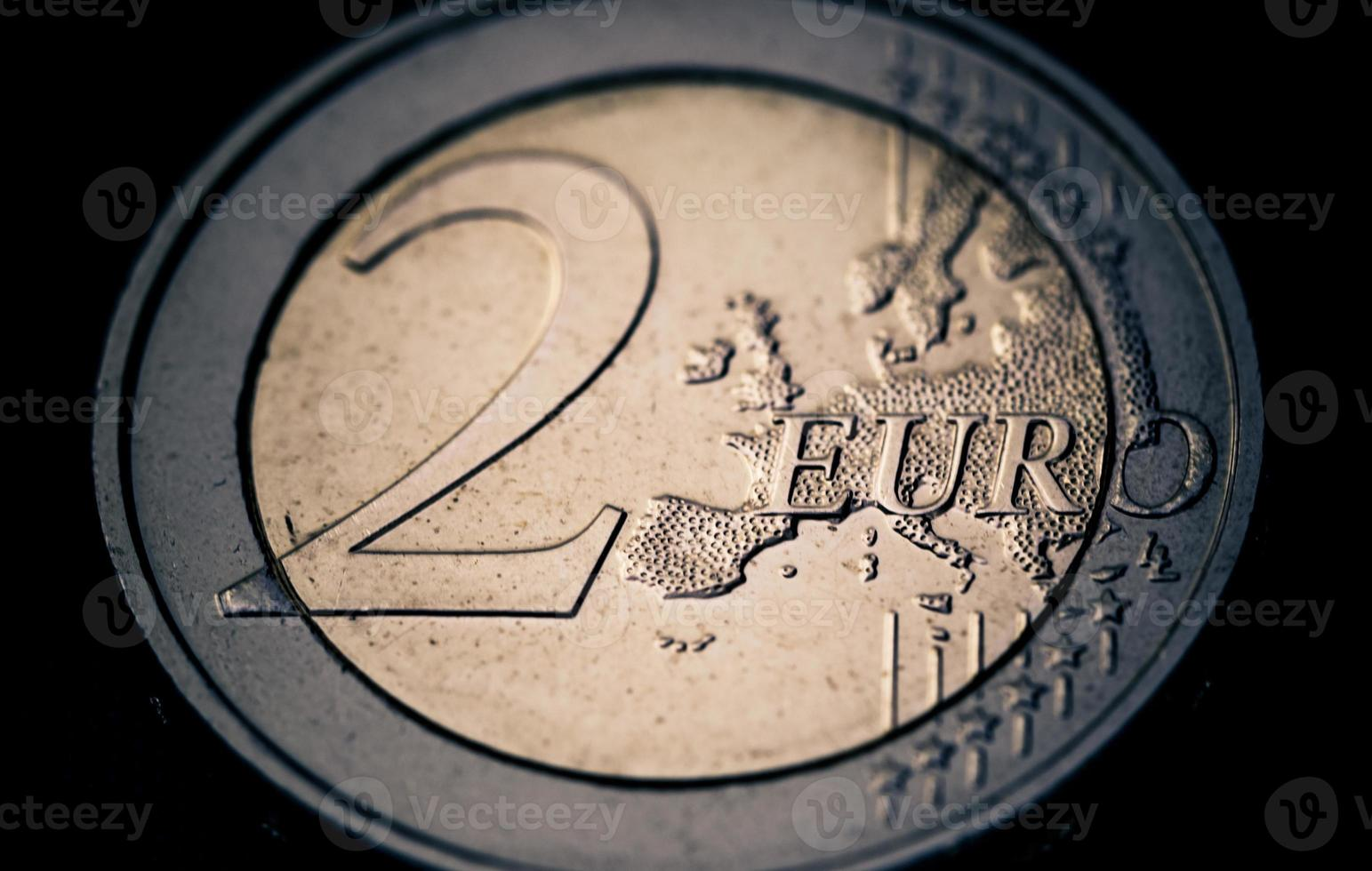 Munt van 2 euro foto