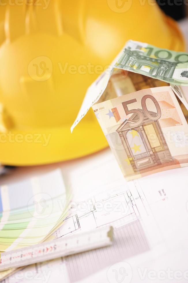 huis gemaakt met euro foto