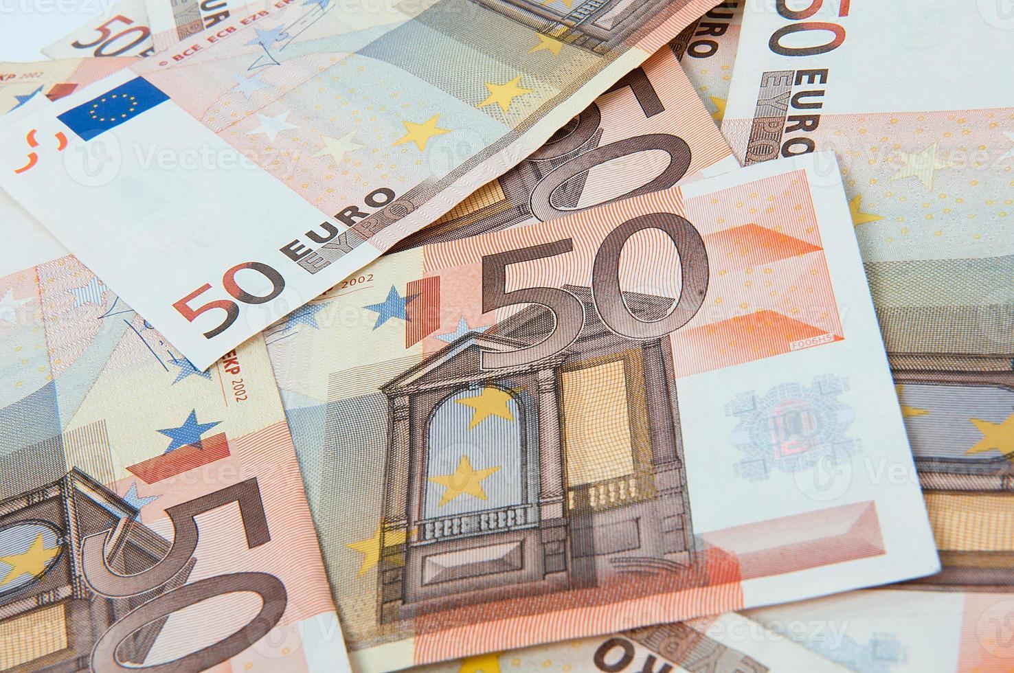 bankbiljet van vijftig euro foto