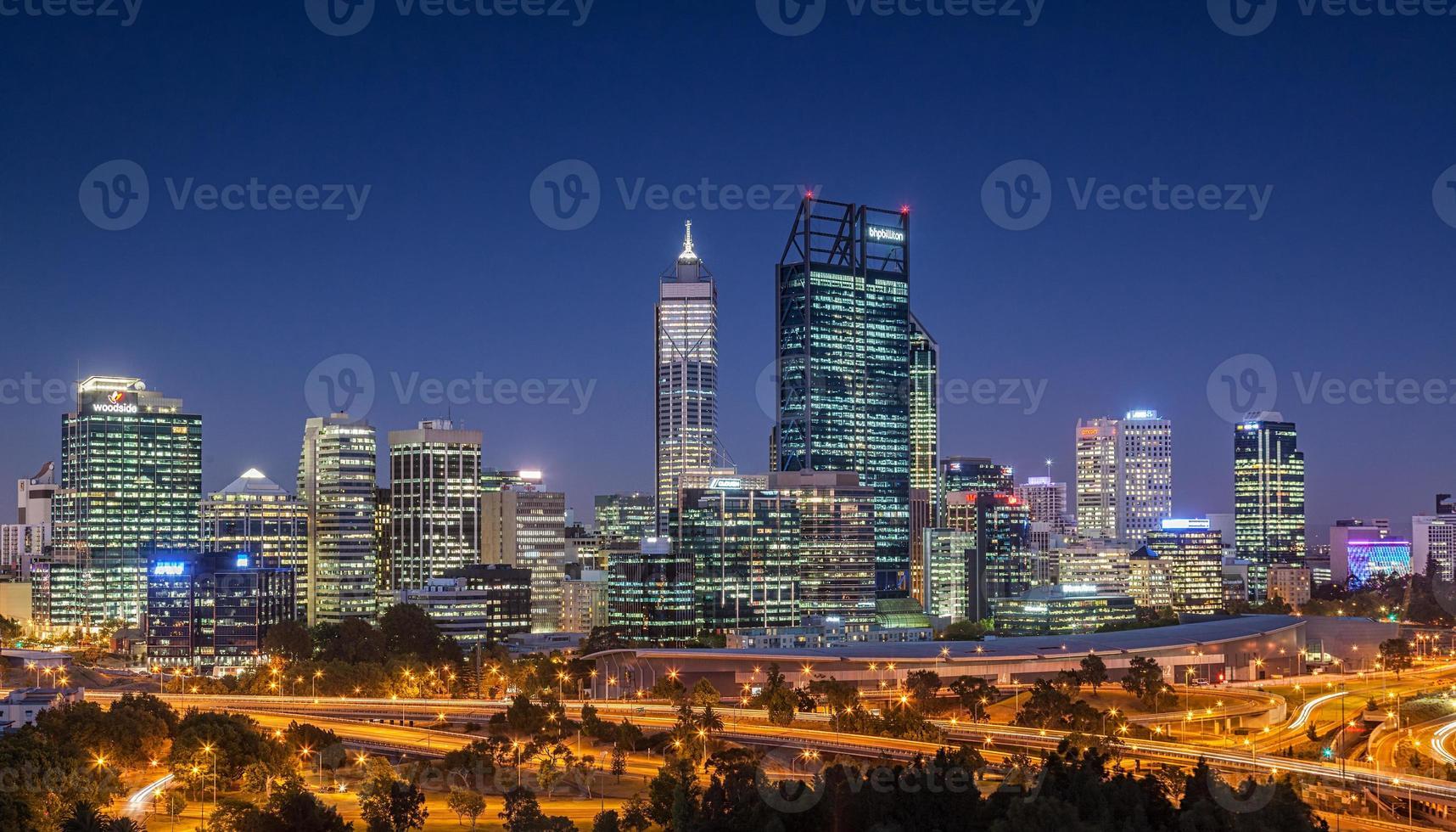 de skyline van Perth foto
