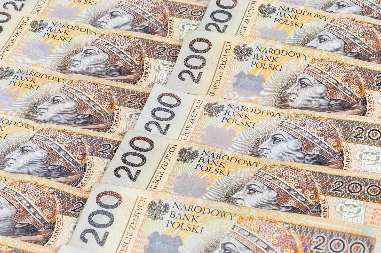 bankbiljetten van 200 pln - Poolse zloty foto