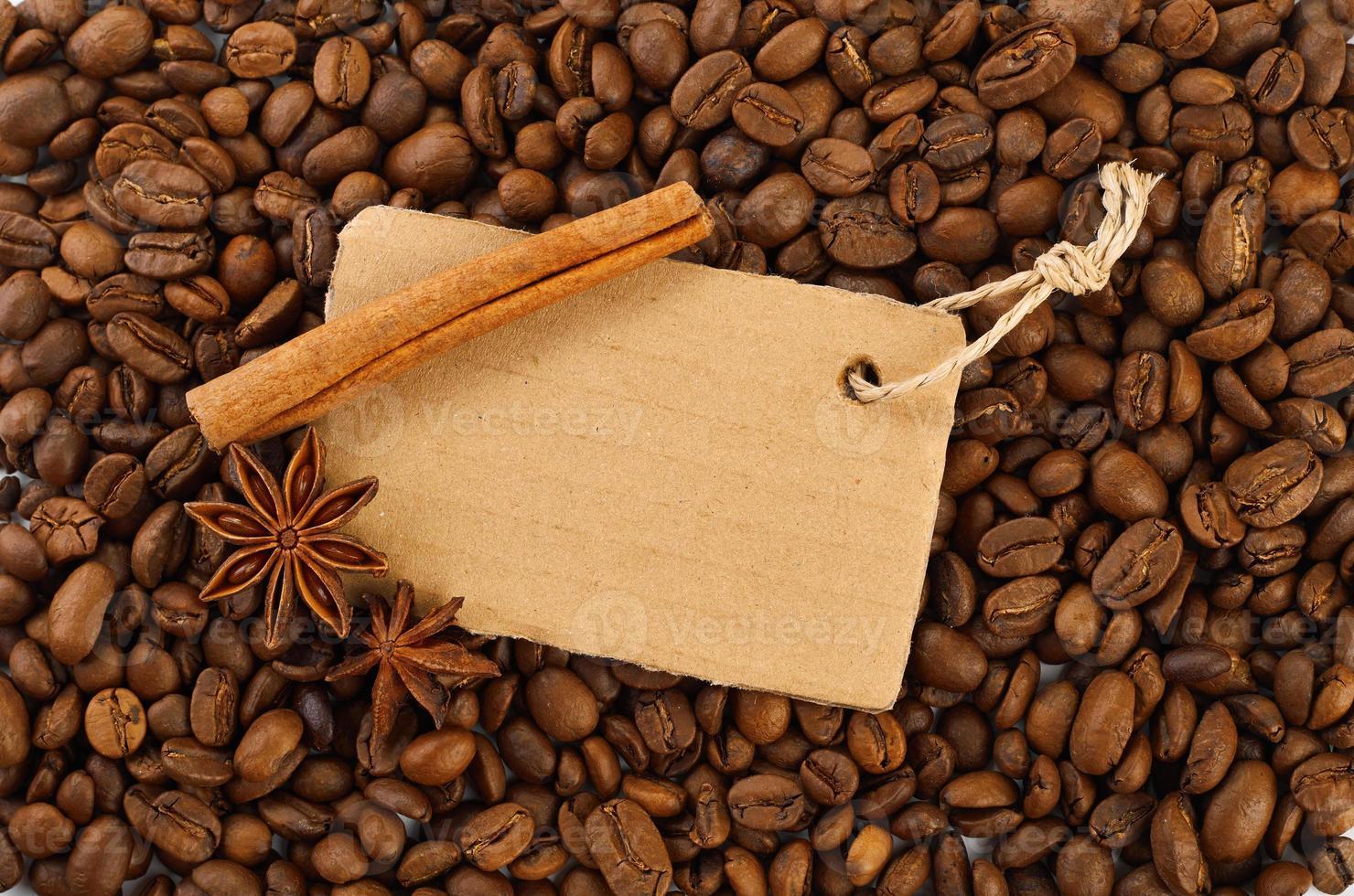 koffie en blanco foto