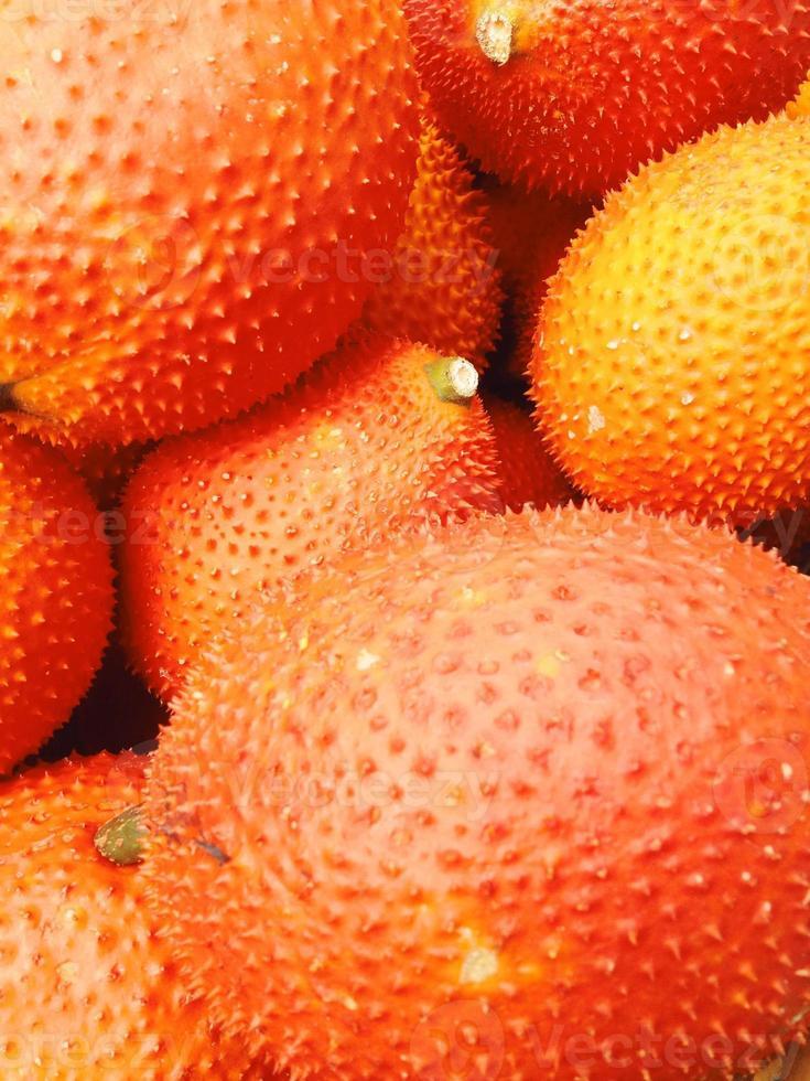 baby jackfruit in de markt foto