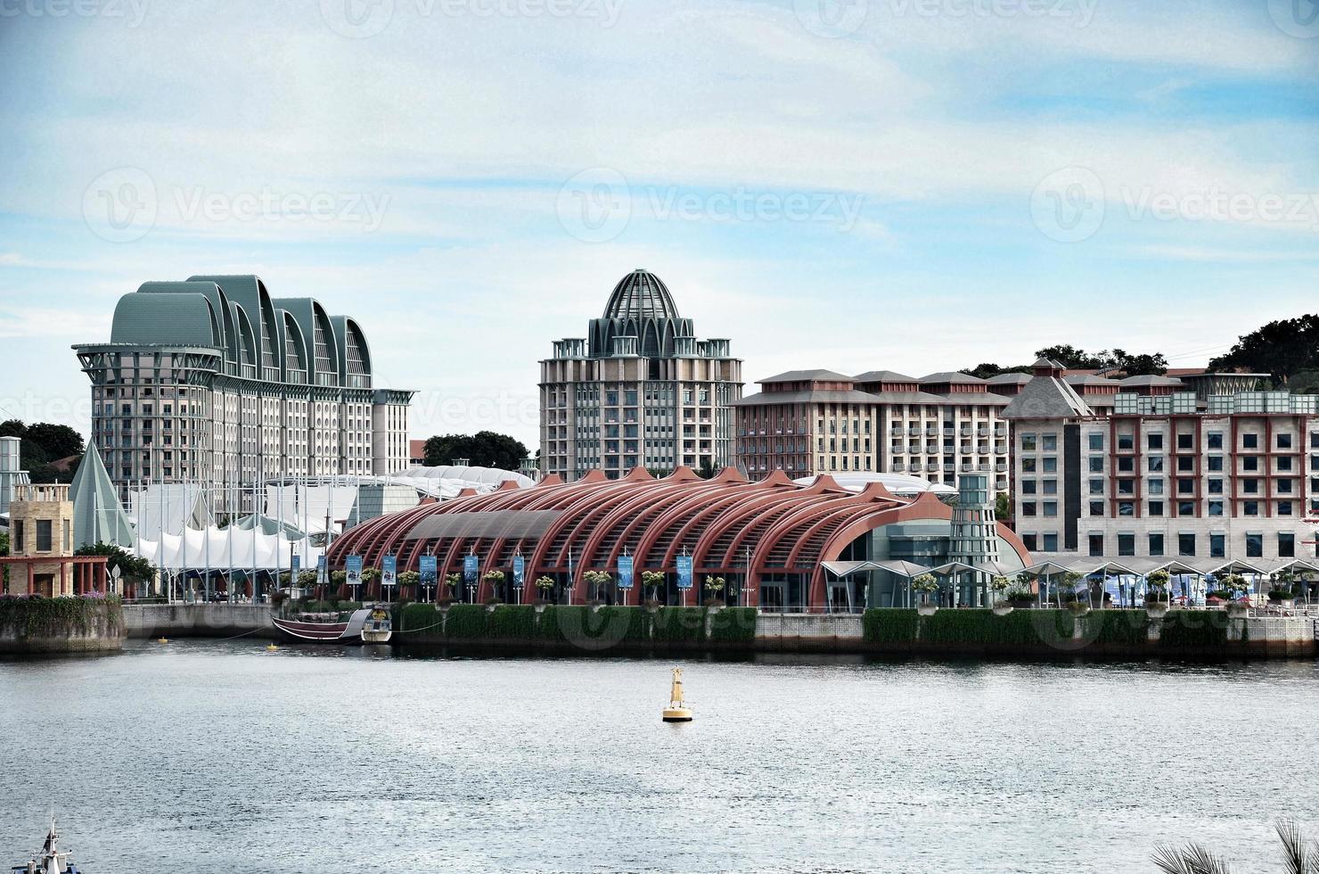 de stad in singapore foto