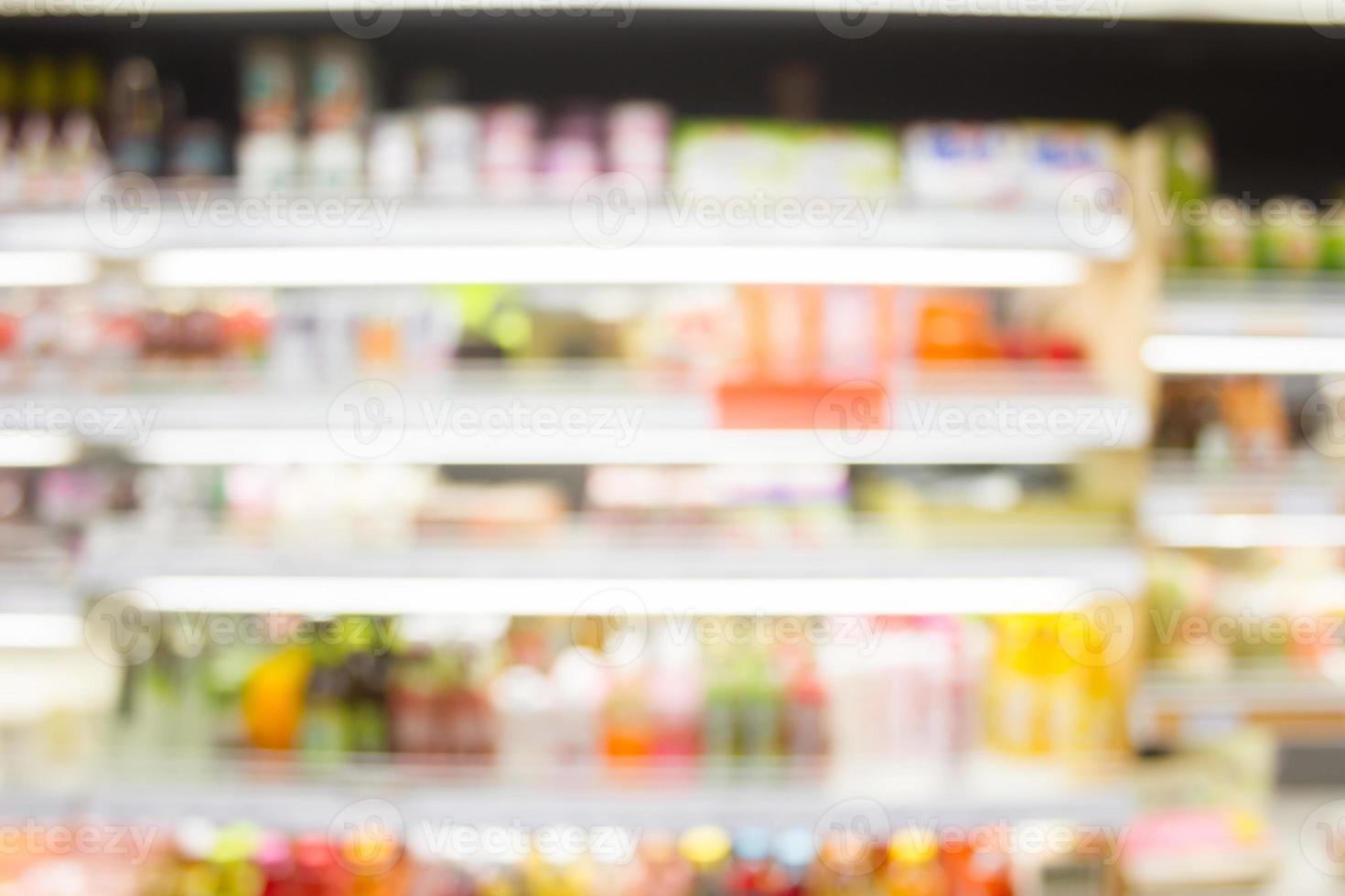 warenhuis met bokeh achtergrond wazig foto