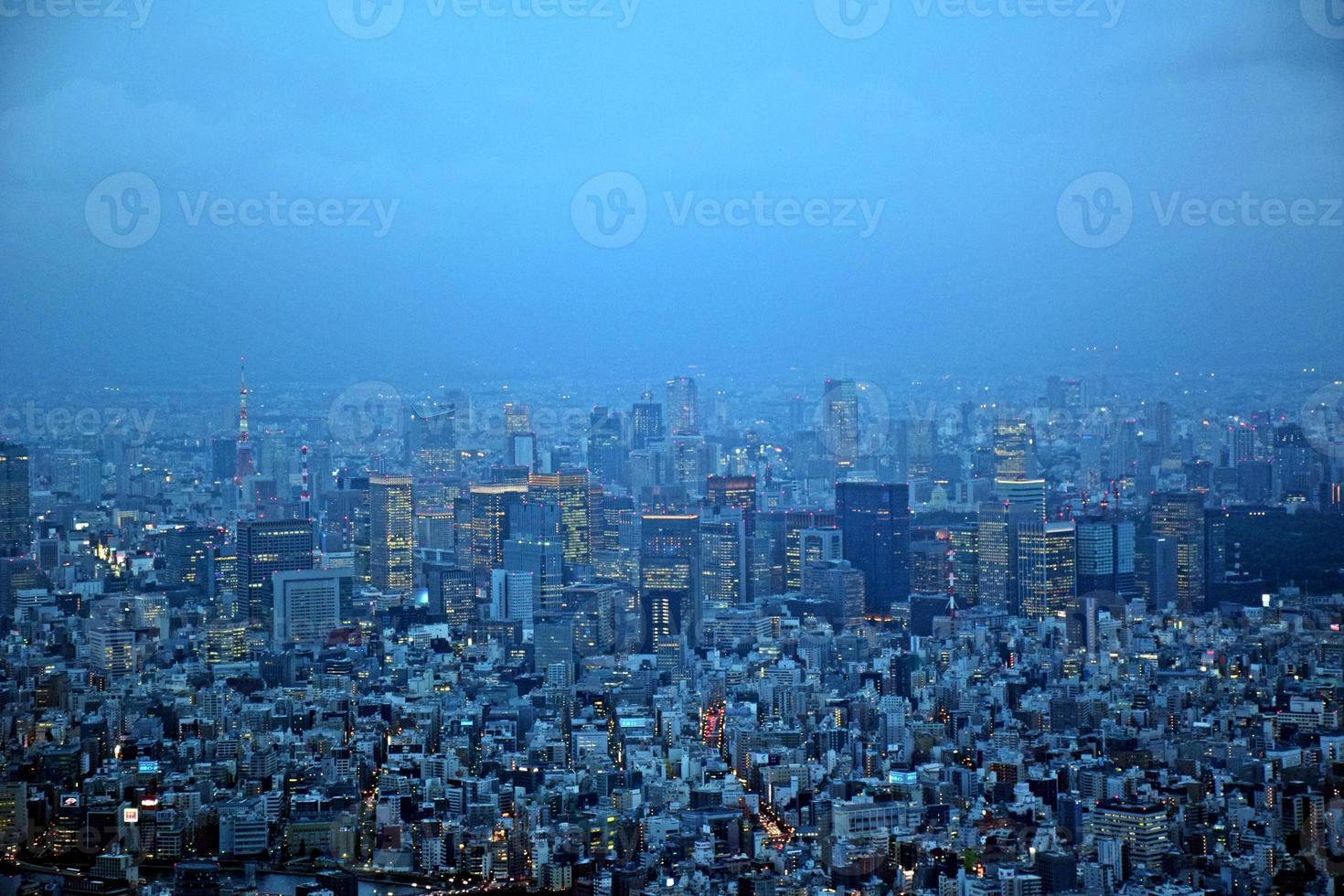 Tokyo in de schemering foto