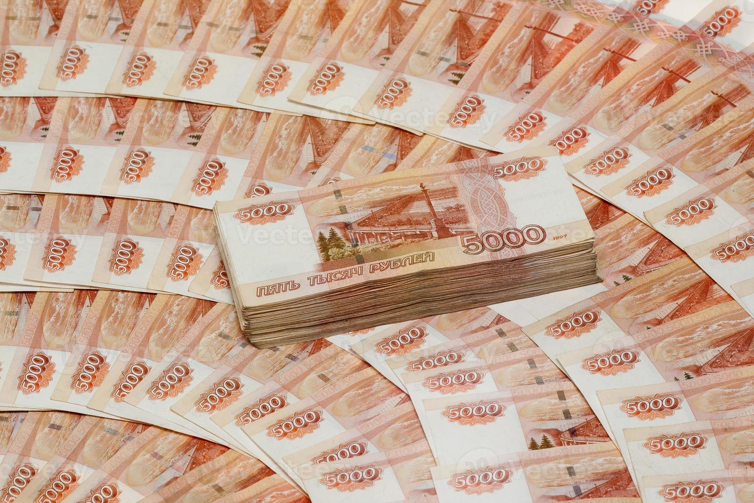 vijfduizend roebelbiljetten foto