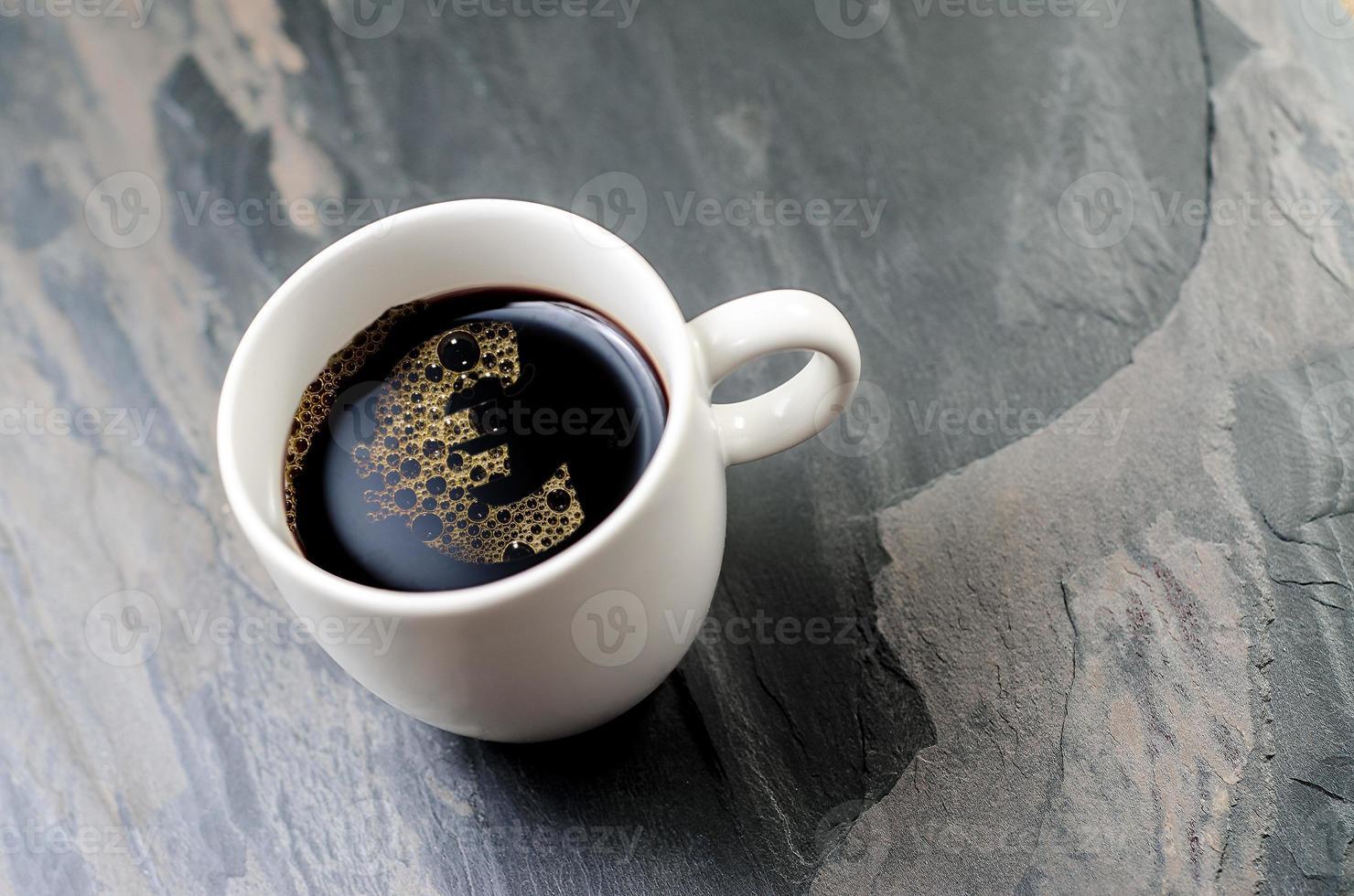 koffiekopje: euro-symbool foto