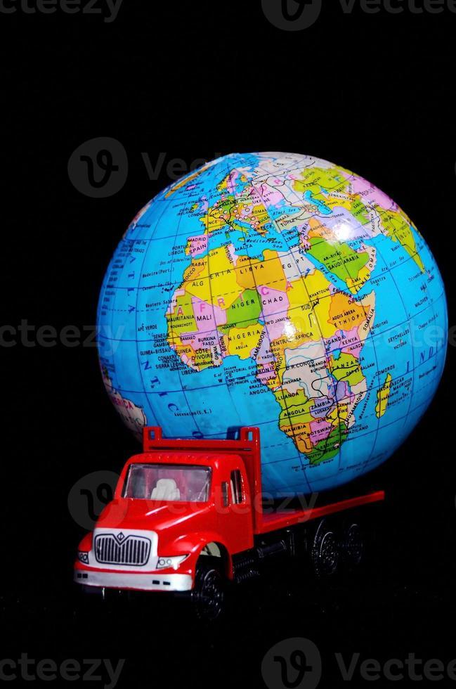wereldwijd vrachtvervoer concept foto