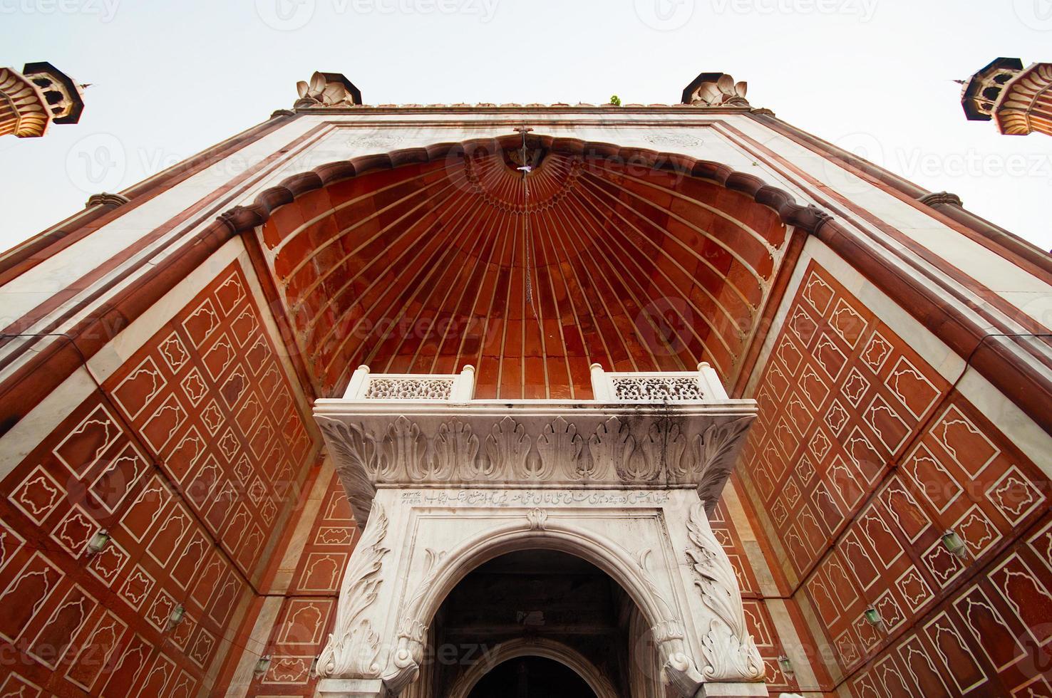 jama masjid moskee, oude delhi, india foto