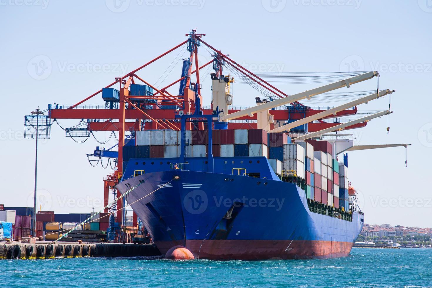 containerschip foto
