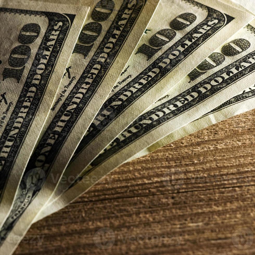 close-up van bankbiljetten van $ 100 foto