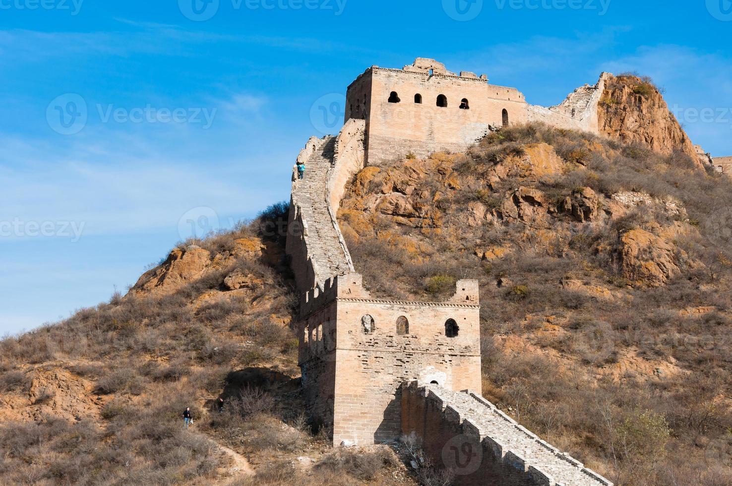de grote muur van China bij Jinshanling. foto