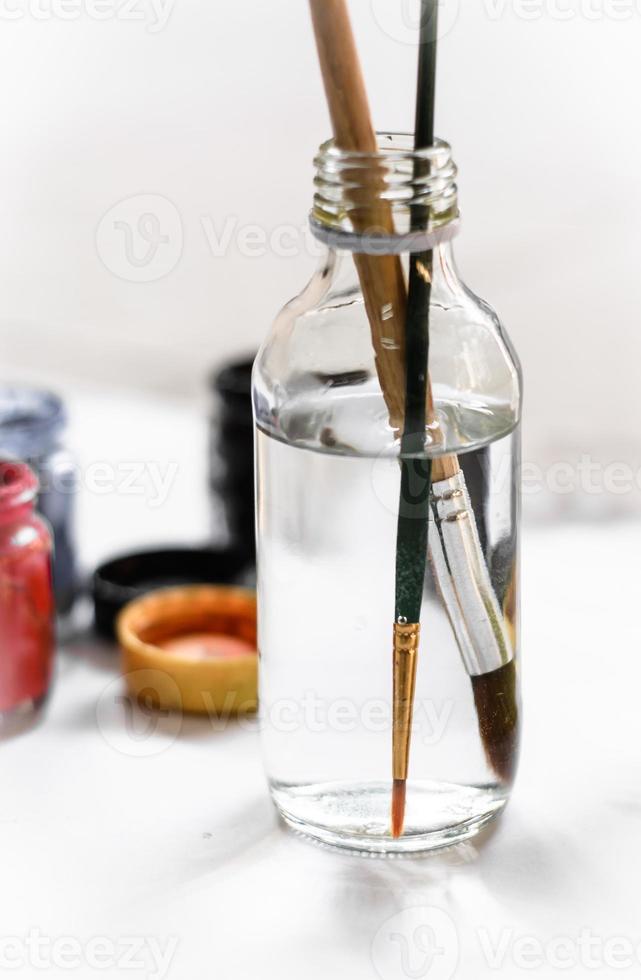 oude verfborstels verven foto