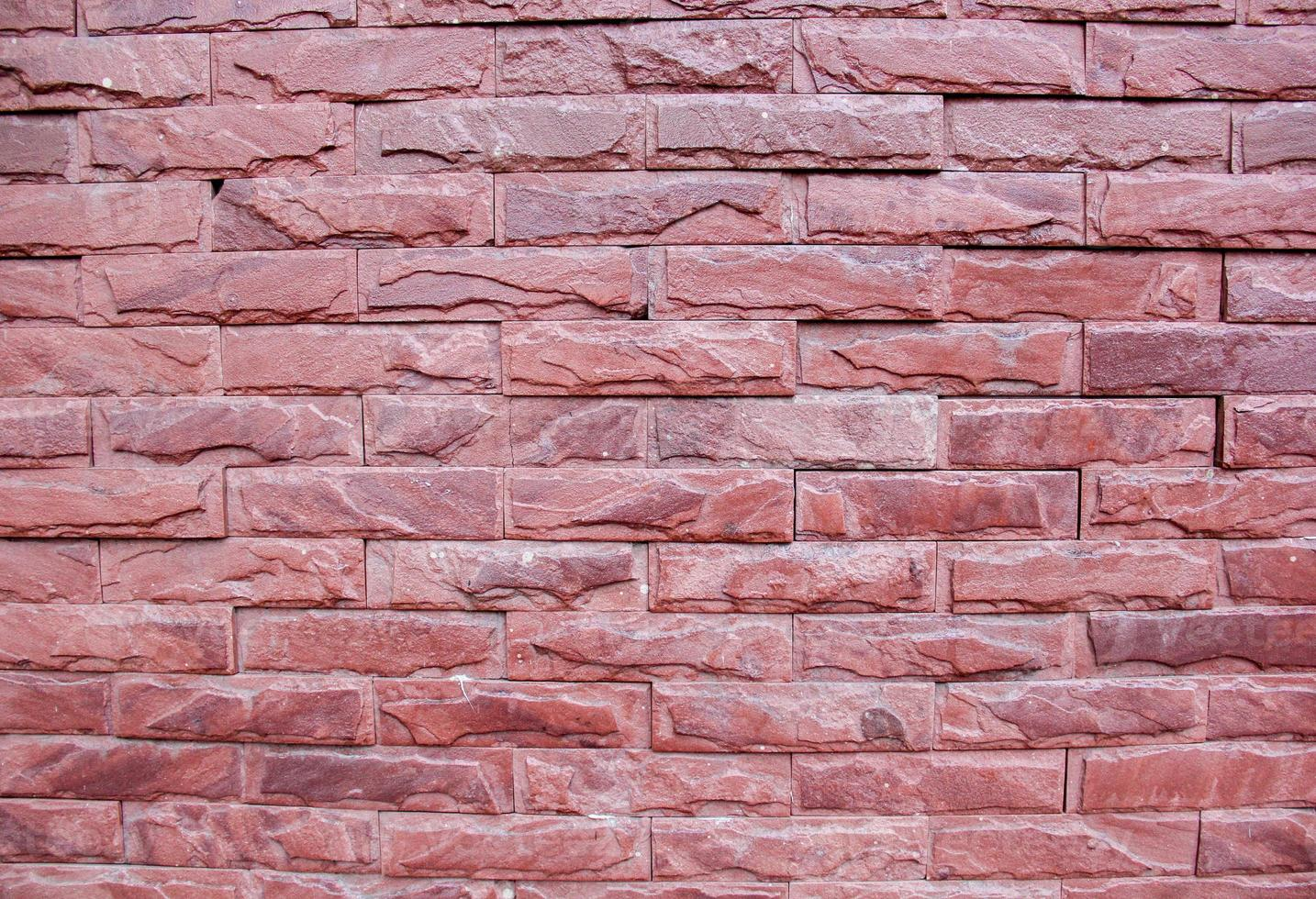 rode bakstenen muur. foto