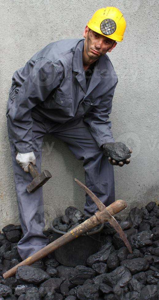 steenkool mijnwerker foto