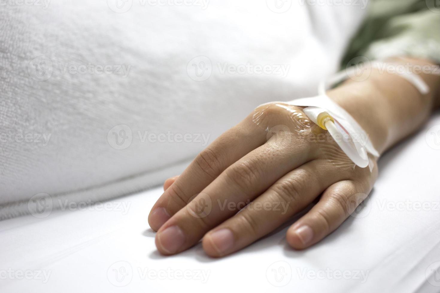 ziek in het ziekenhuis. foto