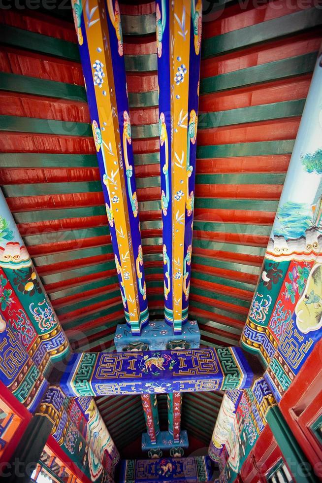 details van zomerpaleis, beijing, china foto