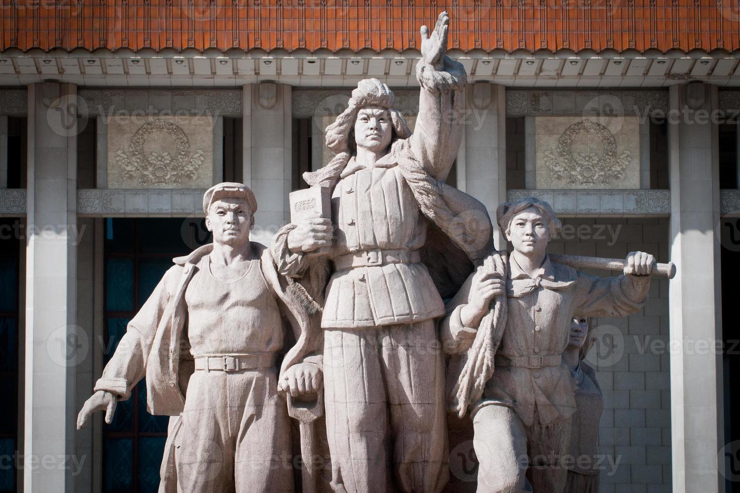 monument voor mausoleum van mao zedong foto