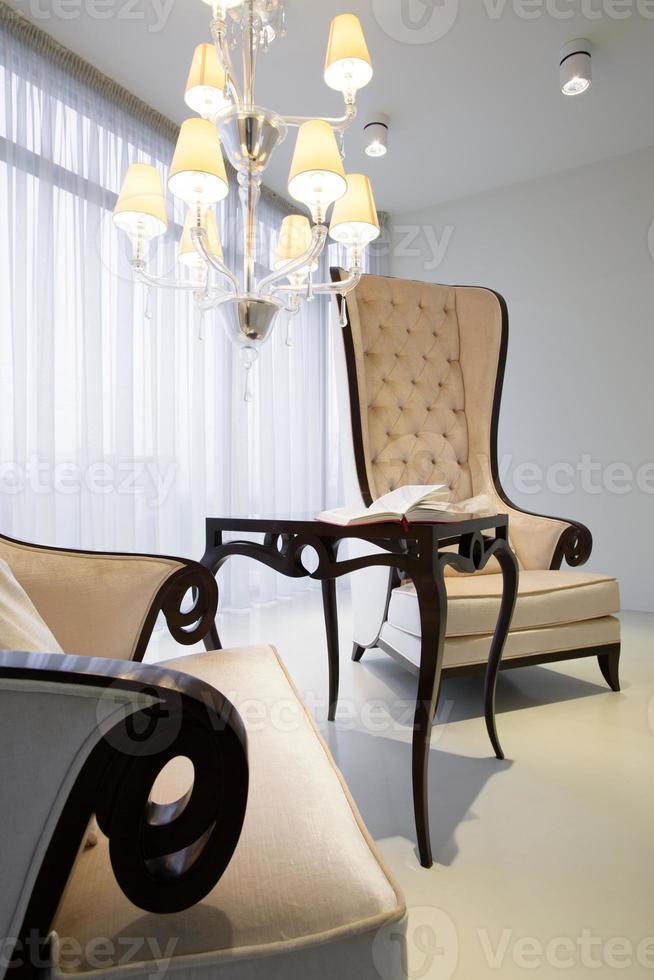 comfortabele retro fauteuils foto