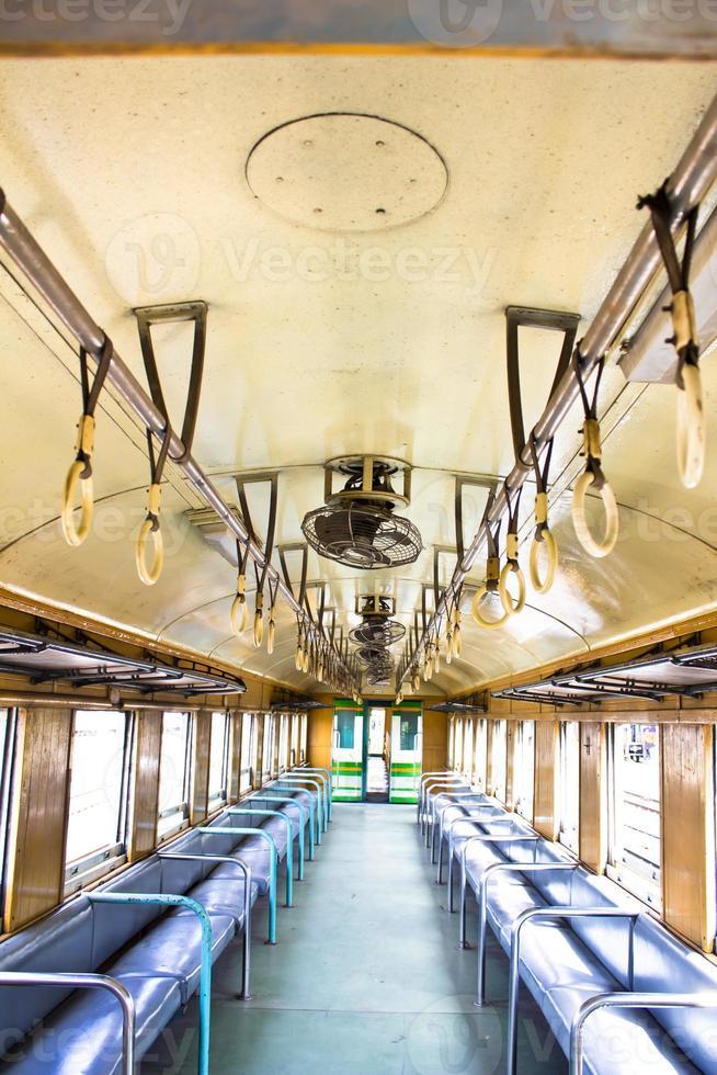 in de trein foto