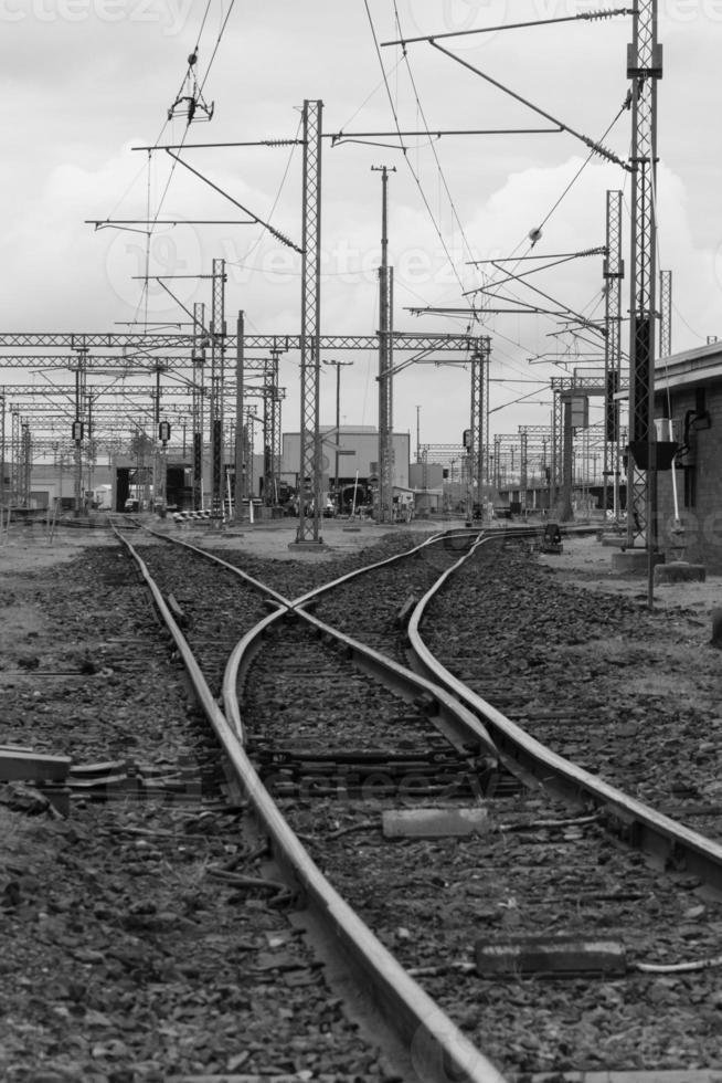 railyards - zwart-wit foto