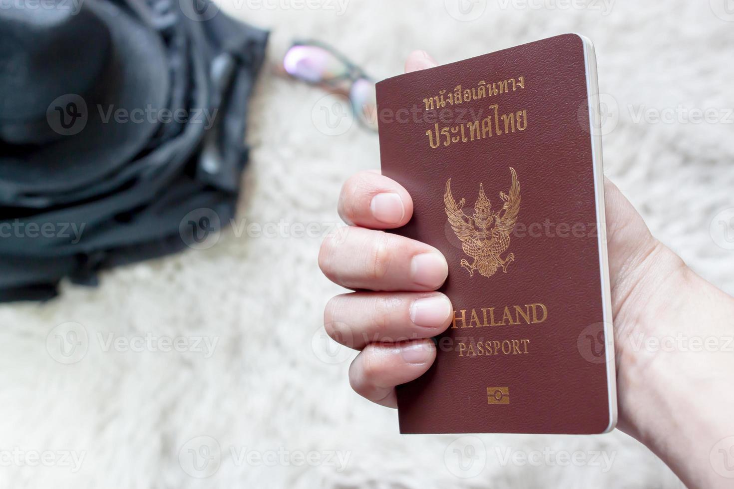 met een Thais paspoort foto