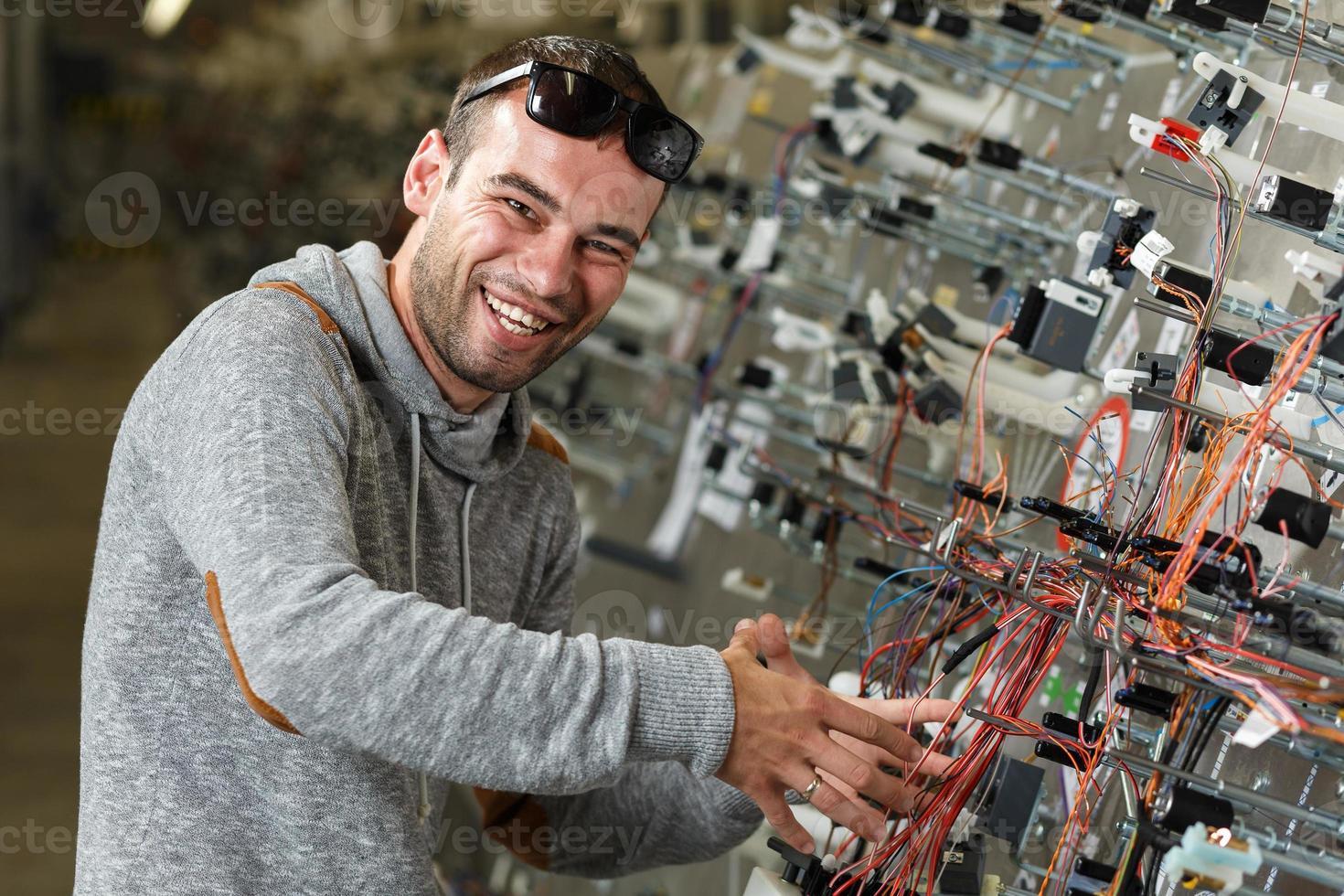 gelukkige werknemer foto