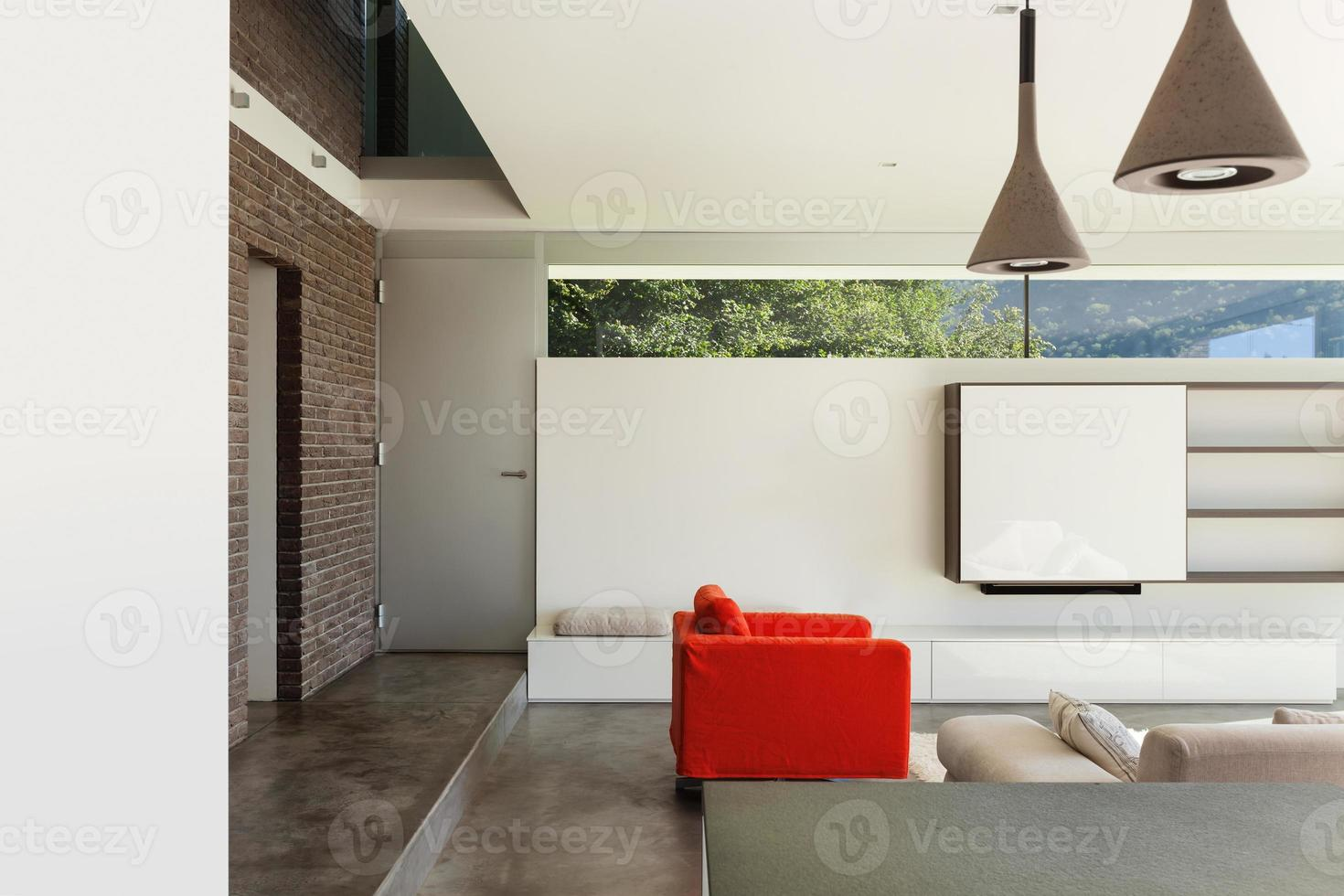 interieur, detail van de woonkamer foto