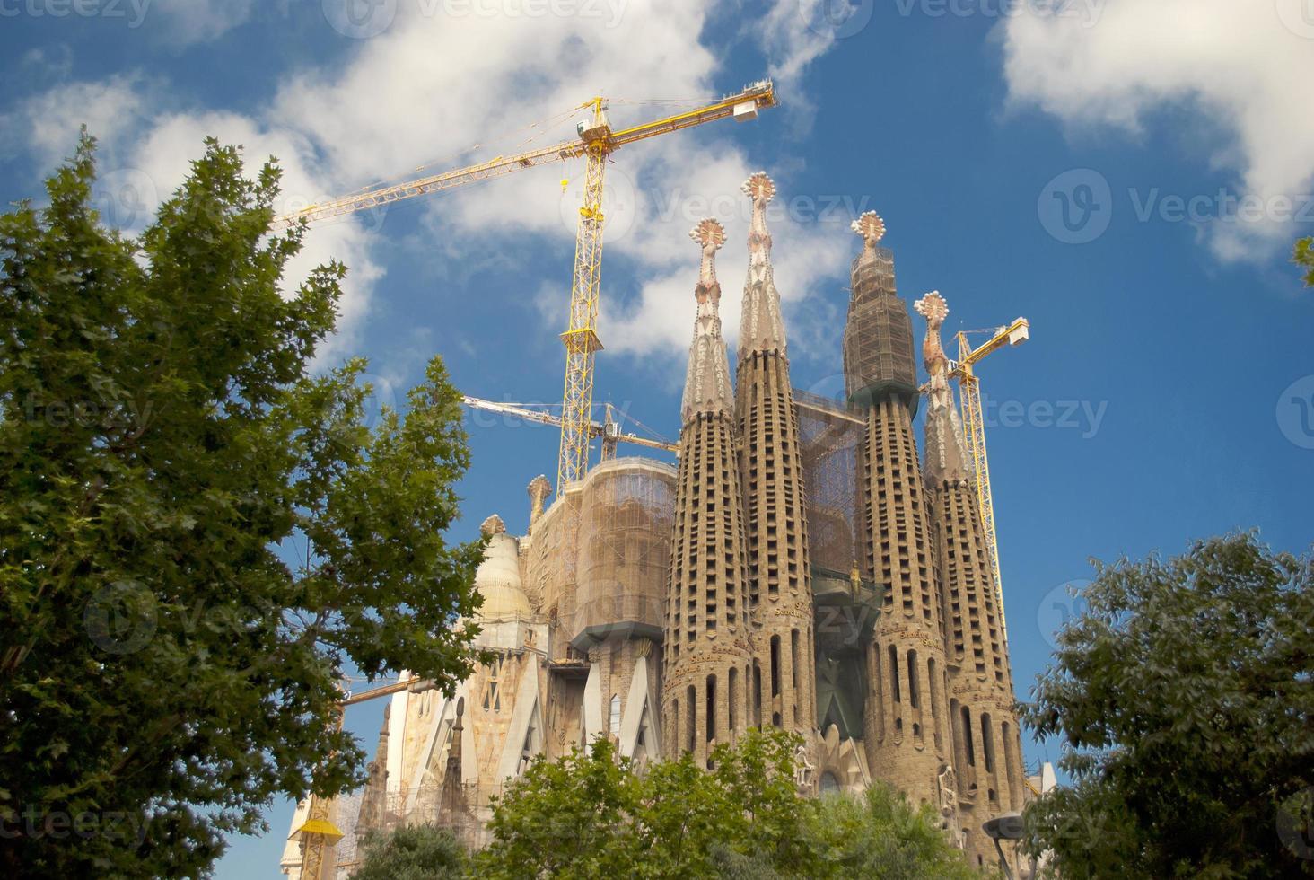 sagrada familia in barcelona, spanje foto
