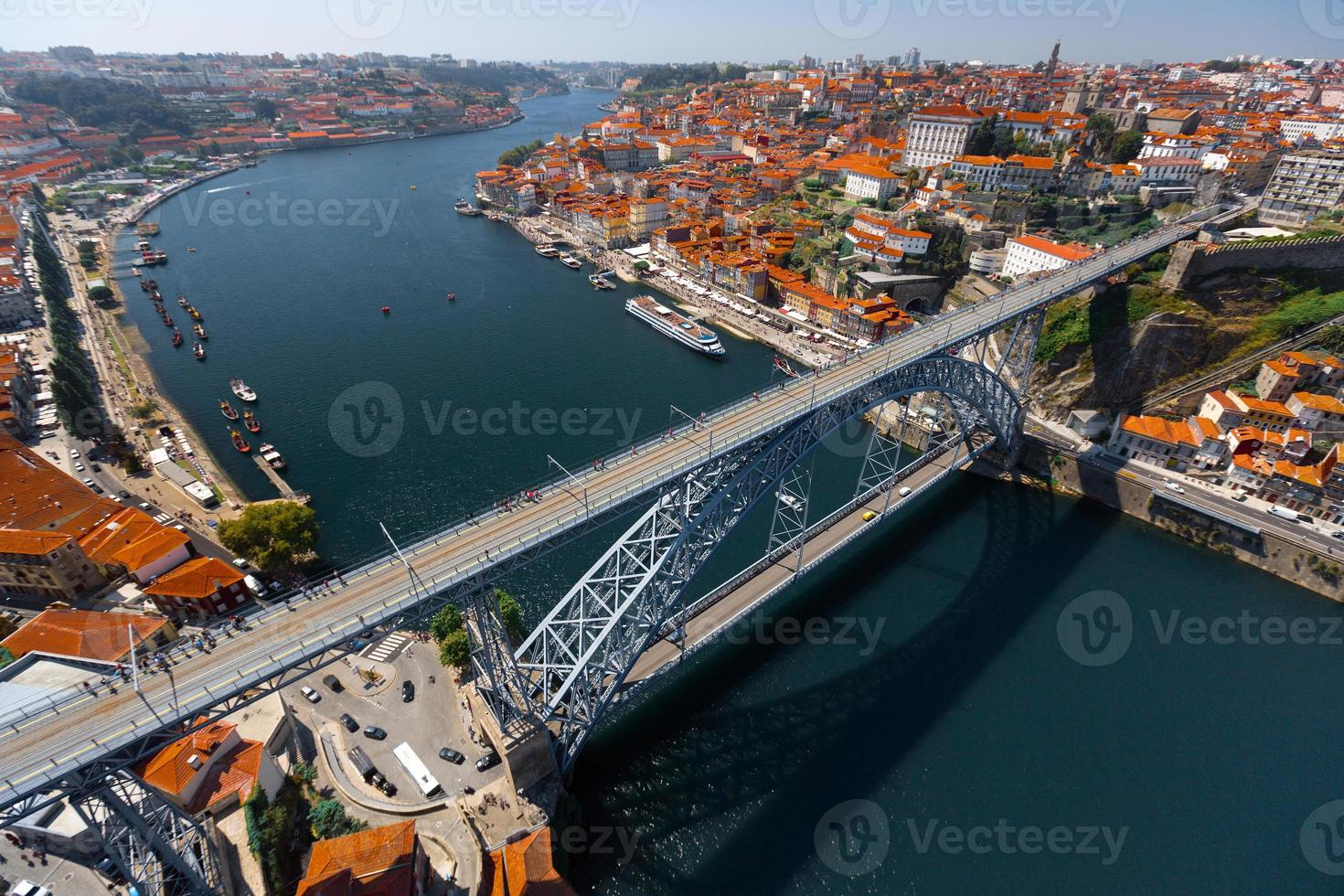 Porto luchtfoto uitzicht op de stad foto