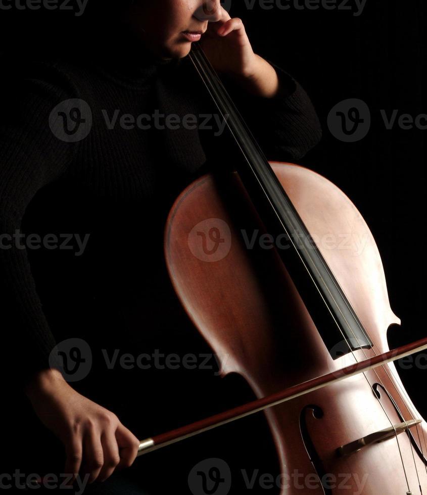 cello speler foto