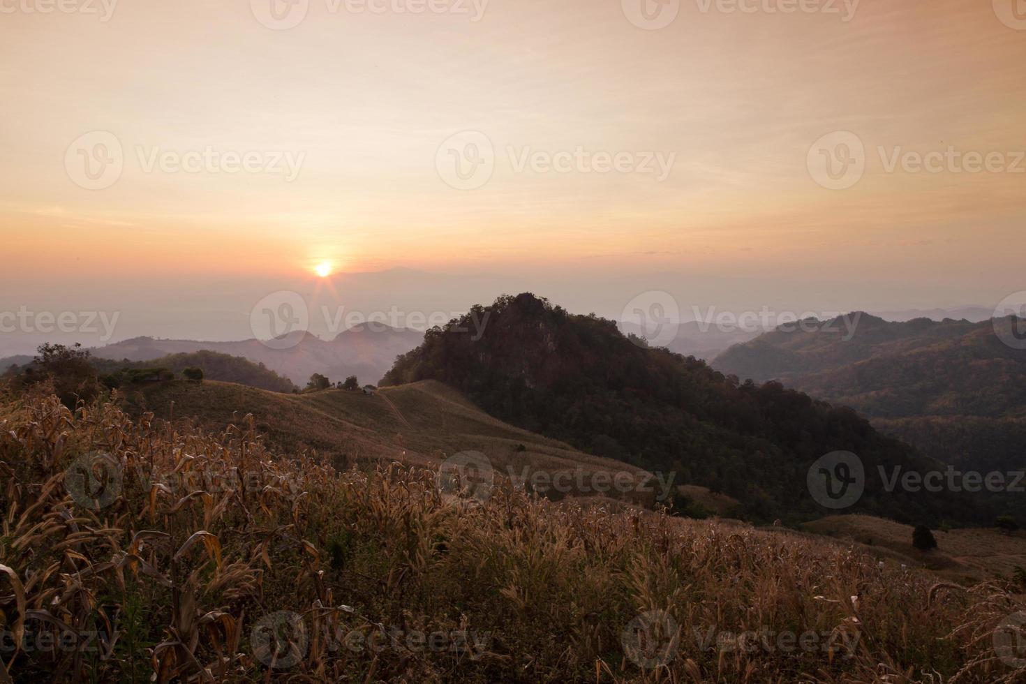 doi samer dao, uitzichtpunt ten noorden van Thailand. foto