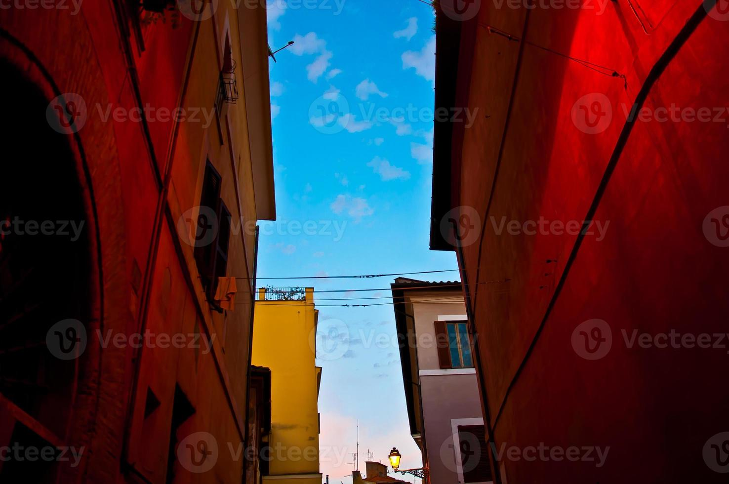 Italiaanse oude stad (Trastevere in Rome) foto